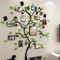 Colorful Picture Photoes Frame Tree 3D Acrylic Decoration Wall Stickers DIY Art Wall Poster Home Decor Bedroom Living RoomHot