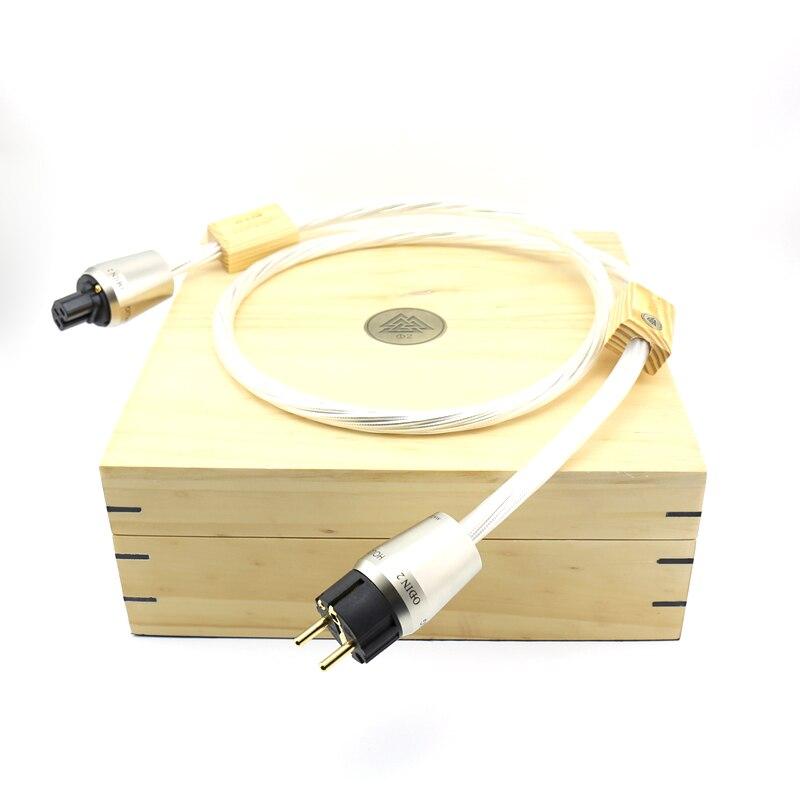 Cordon d'alimentation de référence moonsaudio ODIN 2 de haute qualité avec connexion à fiche d'alimentation en version ue plaquée or