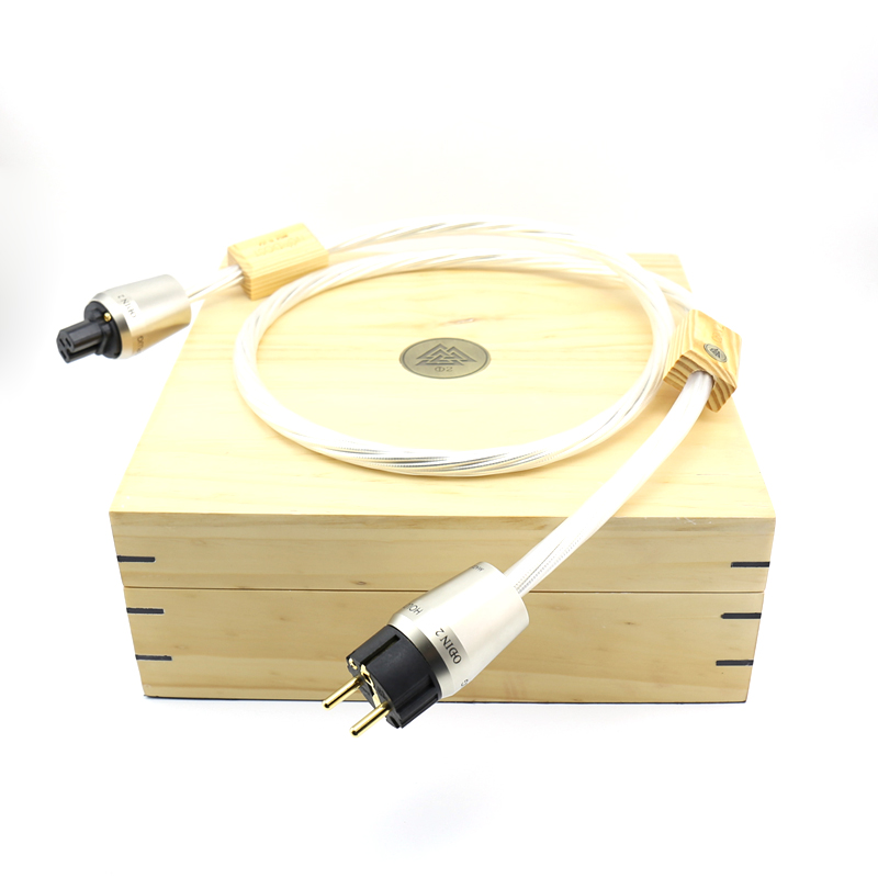 Free shipping moonsaudio ODIN 2 supreme reference power cord with Gold plated EU version power plug connection