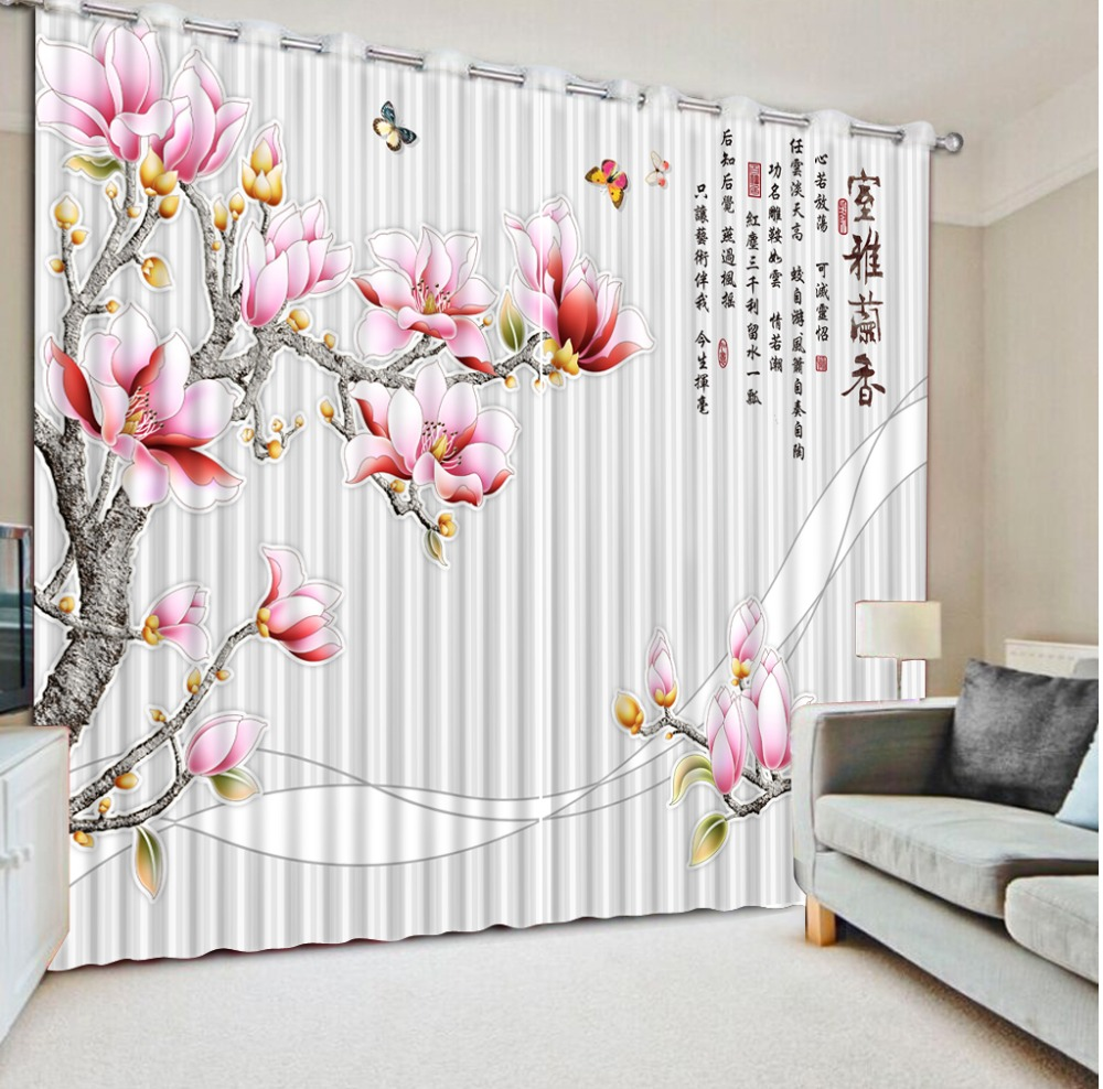 Fashion Customized Classic Home Decor Striped Flower Chinese Characters 3D Curtains For Living Room Blackout Curtain FabricFashion Customized Classic Home Decor Striped Flower Chinese Characters 3D Curtains For Living Room Blackout Curtain Fabric