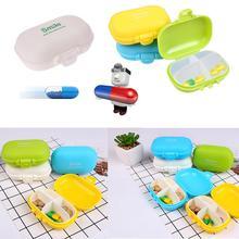1 pcs Mini Pill Box Case Medicine Storage Cutter Health Medical Travel 4 Slot