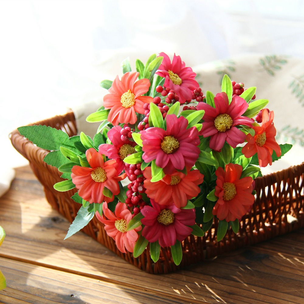 8 headsbouquet autumn colorful silk daisy artificial flowers for 8 headsbouquet autumn colorful silk daisy artificial flowers for wedding table home decoration cheap artificial chrysanthemum in artificial dried flowers izmirmasajfo