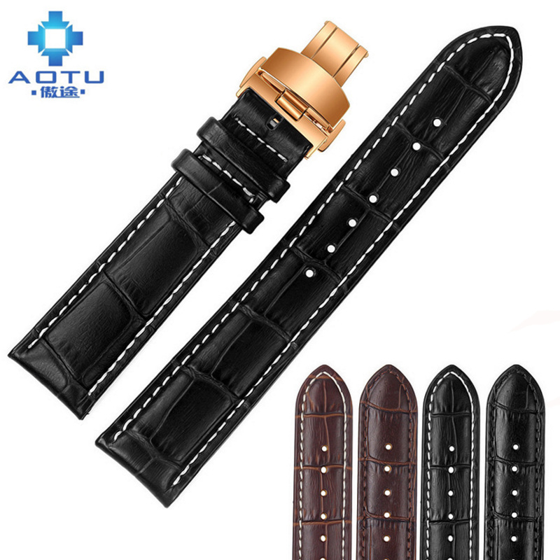 Genuine Leather Watchbands For Tissot 1853 T086.207 T17 Mido Men's Watch Strap Male Leather Watches Band For Men 18 19 20 22mm men s genuine leather watch strap for tissot mido waterproof calfskin leather watch band for fits all brand women bracelet belt page 1