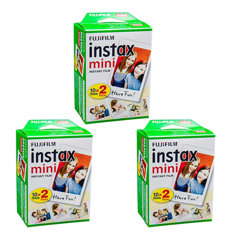 Original Fuji Fujifilm Instax Mini 8 Film 60 pcs White Edge Photo Papers For Polaroid 7s