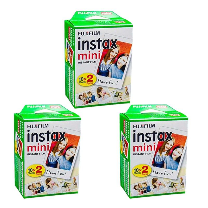 D'origine Fuji Fujifilm Instax Mini 8 Film 60 pièces Bord Blanc Papiers Photo Pour Polaroid 7 s 8 90 25 55 Répartition SP-1 Appareil Photo Instantané