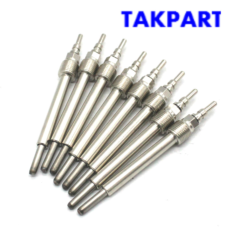 TAKPART FOR 2004 06 FORD 6.0L 6.0 POWERSTROKE GLOW PLUG SET  4C3Z 12A342 AA|Spark Plugs & Glow Plugs| |  - title=
