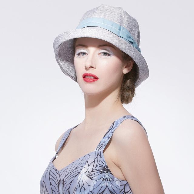 2016 Nueva Señora Sombrero de Sol Mujeres Primavera Casquillo del Sol Anti-Ultravioleta mujeres Niñas Sombrero de Fedora Ocio Viajar Sombrero Beach Sun Cap B-2527