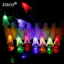 christmas lights outdoor 4m 20leds jingle bells fairy string light ac220v bells christmas tree decoration new year lights