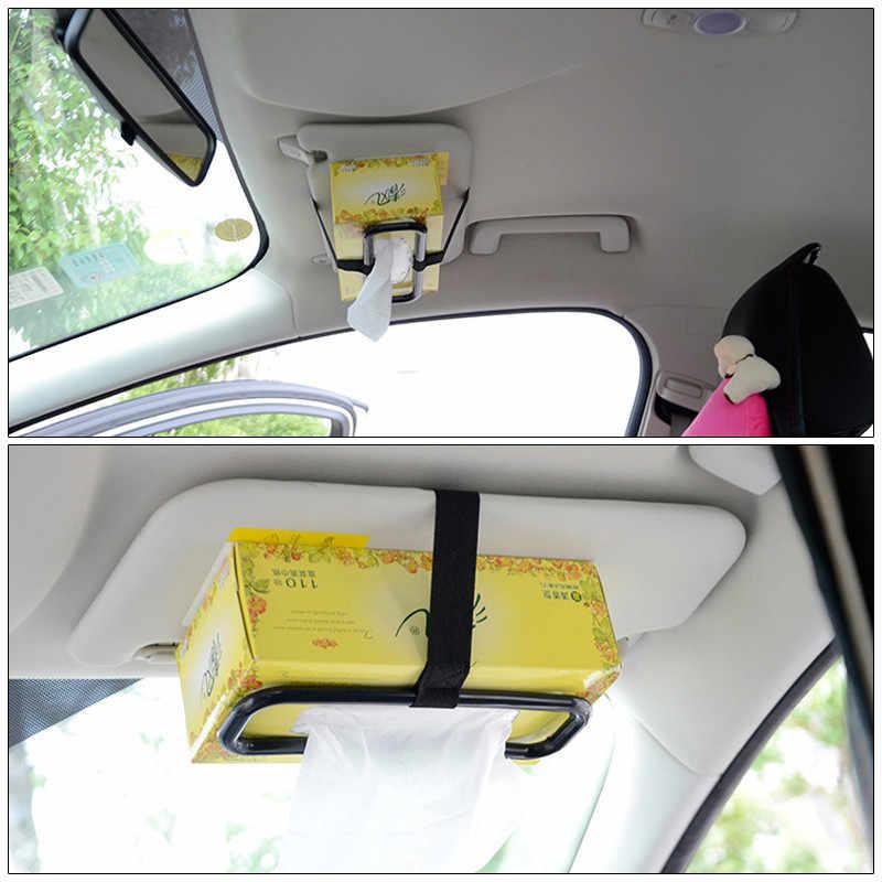 Adornos para el coche accesorios interiores decoración del coche parasol silla trasera caja de pañuelos para el coche