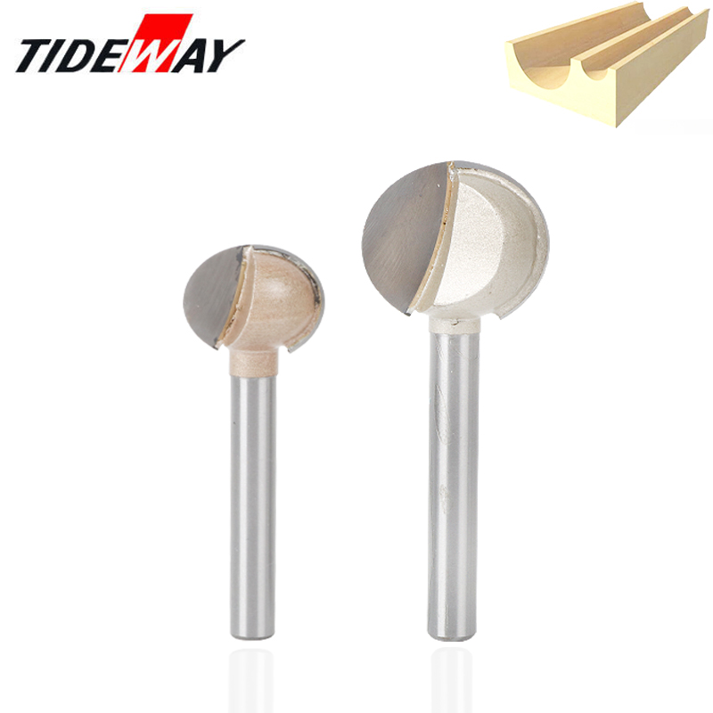 6mm Shank Woodworking Round Carving Bit Ball Nose End Mill Engraving Nose Cove CNC Milling Radius Core Box Solid Router Tools