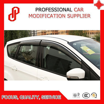 High Quality Injection molding trim vent shade rain sun wind deflector window visor for Peugeot 206 207 301 307 408