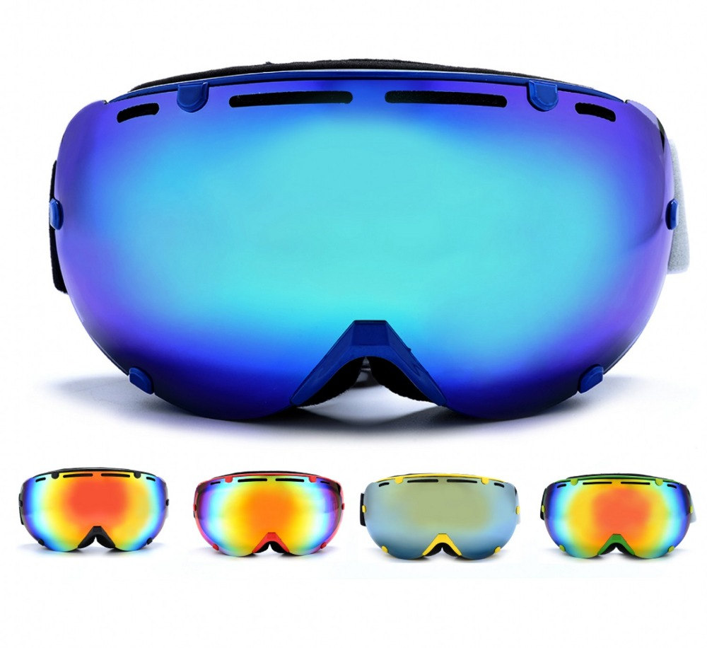 Professional Ski Goggles Glasses Double Lens UV400 Anti fog Snowmobile Snowboard Skate Snow Skiing Snowboarding Goggles