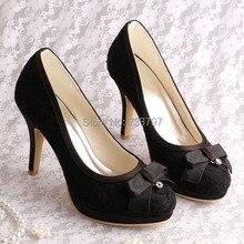 Магия невеста женский сексуальный и модные вечернее платье черное кружево свадебные туфли