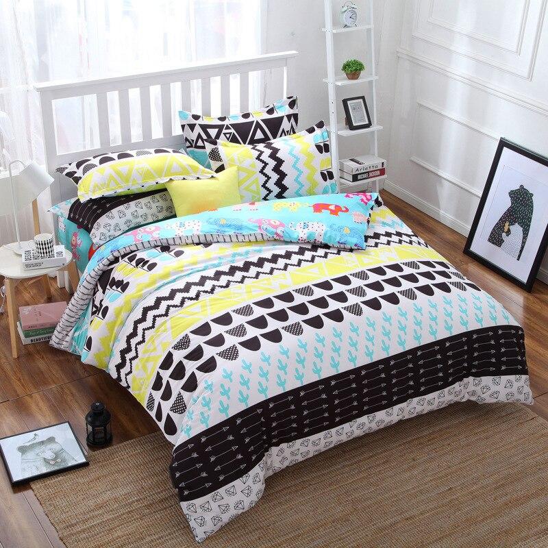 Black And White Checker Pattern Bedding Set