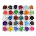 Venta caliente 30 unids Nueva Belleza 30 Colores Mezclados Polvo de Pigmento Del Brillo de la Lentejuela Mineral Eyeshadow Maquillaje Uno Set Maquiagem