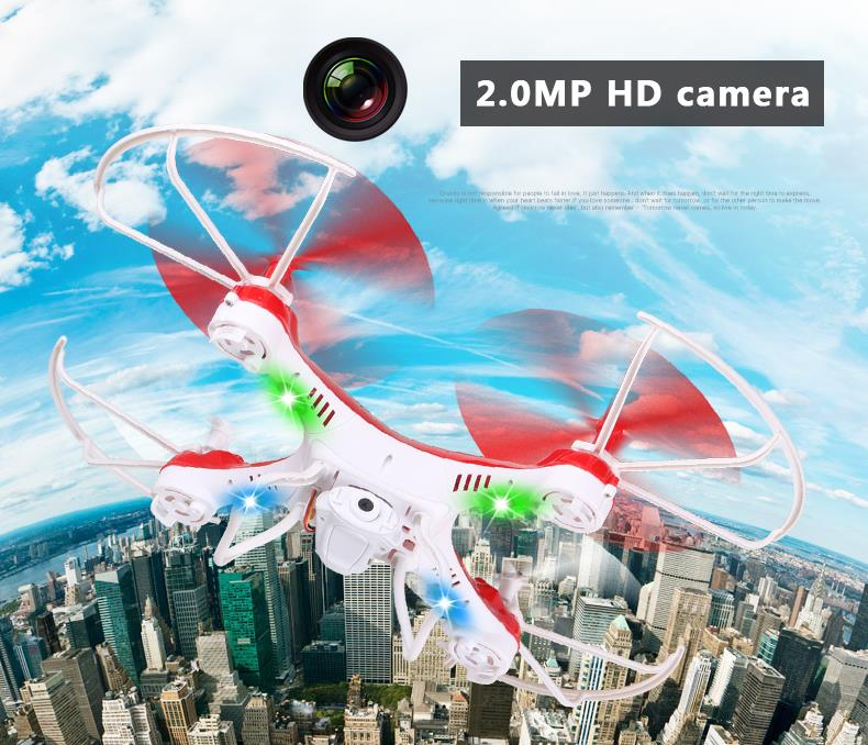 F16706/13 2.4G 4CH 6-axle Gyro RTF Attop YD 829 RC Headless Quadcopter / YD-829C 2.0MP HD Camera Drone 3D 360 Flips One Key Lock new arrival attop a5 2 4g 4ch 6 axis gyro rtf remote control quadcopter 180 360 degree flips aircraft drone toy 2016