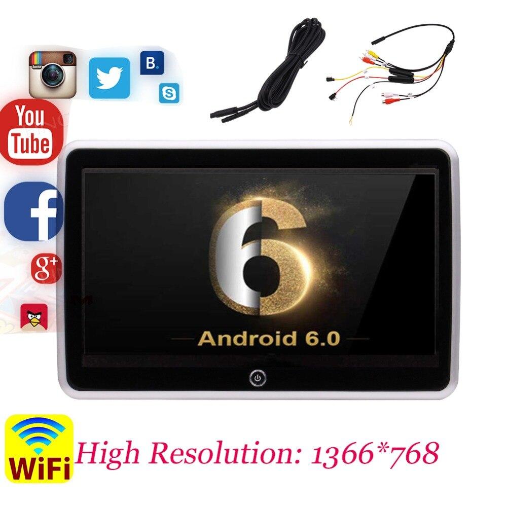 Android 6,0 заднего сиденья развлекательная Системы Экран с высоким Разрешение 1366*768 Su Порты и разъёмы USB/SD/HDMI Порты и разъёмы и Wi Fi 10,1 дюймов ультр