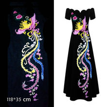 Large Size Colorful Phoenix Patch Clothing Patches Embroidery Peacock Patch  for Fashion Clothes Decoration DIY Applique 8f2d16bd4ef0