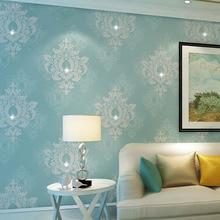 Estilo europeo Wallpapers 3D Espesan No Tejida fondo de Pantalla para paredes 3 d No Tejido Rollo de Papel de Pared Papel Tapiz Floral de Contacto papel
