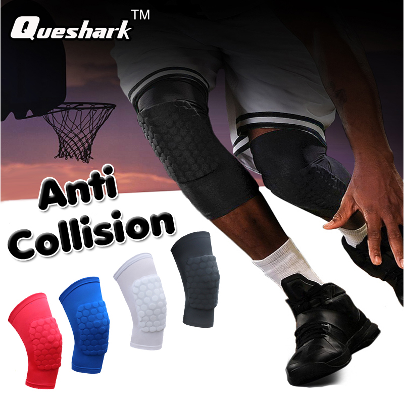 1Pcs Honeycomb Basketball Knee pads Running Cycling Leg Calf Sleeve Football Volleyball Calf Knee Support Brace Sports Kneepads
