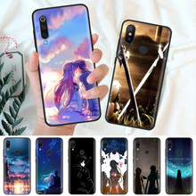 Black Silicone Case Bag Cover for Xiaomi Mi A1 A2 8 Lite Play Redmi Note 7 6 6A 5 Plus 4X Pro Poco F1 Coque Sword Art Online стоимость