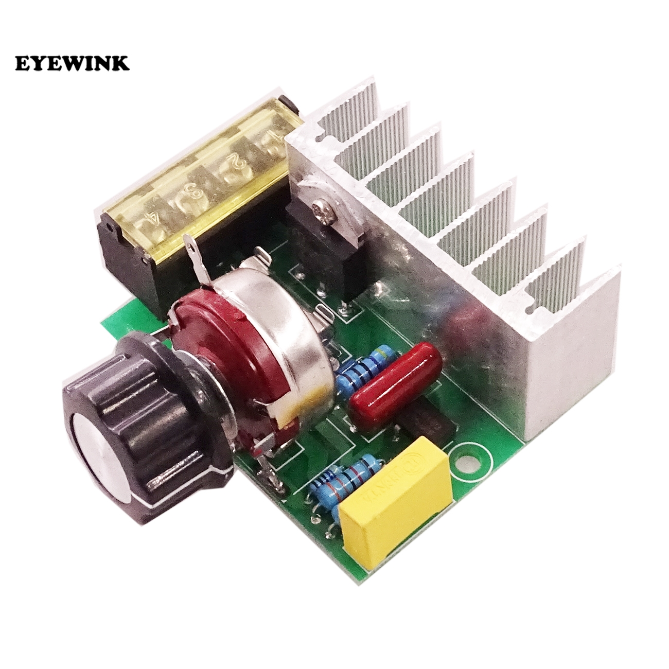 Electronics Production Machinery Eyewink 1pcs/lot 4000w Ac 220v Scr Imported High Power Silicon Control Voltage Regulator Aiming Adjust Speed Thermoregulation Attractive And Durable