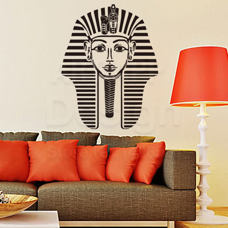 New Design Home Decoration Vinyl Pharaoh Pattern Wall Sticker Removable Art  Egypt Sphinx Decals Cheap Family House Decor In Room In Wall Stickers From  Home ...
