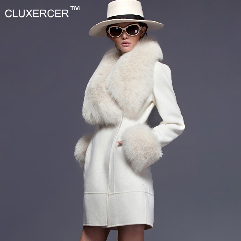 White Wool Coats for Women Promotion-Shop for Promotional White ...