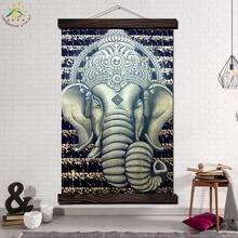 Белый Слон Животных Современная Стена Искусства Печати Поп-Арт Картина И Плакат Твердого Дерева