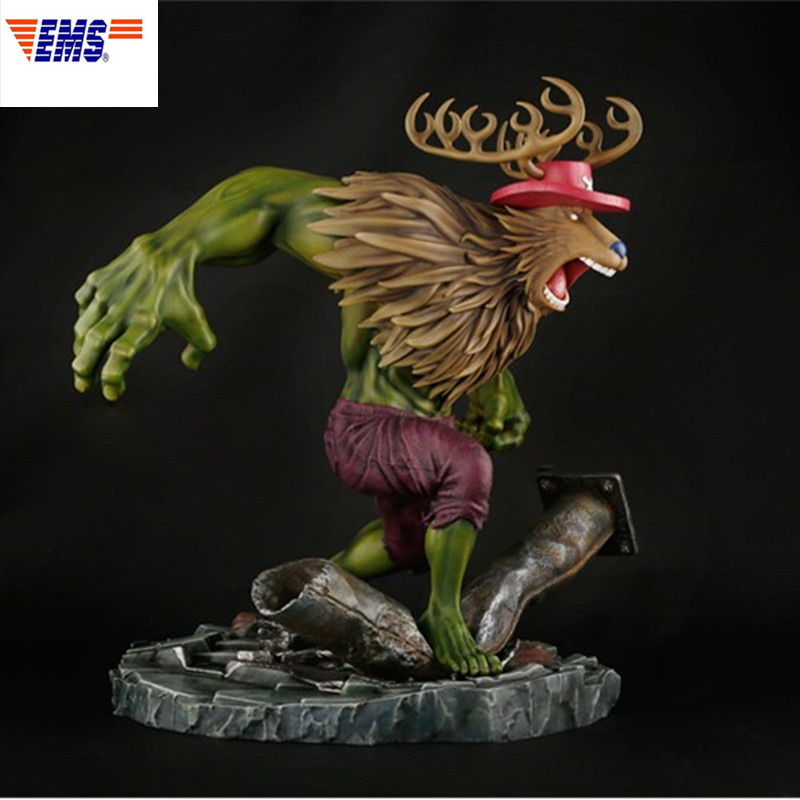 41 CM The Avengers Super-Héros Hulk Cosplay Tony Tony Chopper GK statue en résine Action Figure Collection Modèle Décoration X76