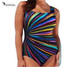 Plus Size Polyester Swimwear Female Polka Print One Piece Swimsuit Women Vintage Bathing OnePiece Suit Retro Large Size Swimsuit