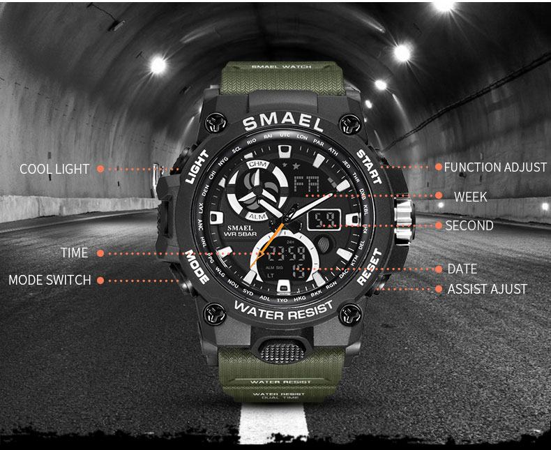 3.sport watches for men waterproof