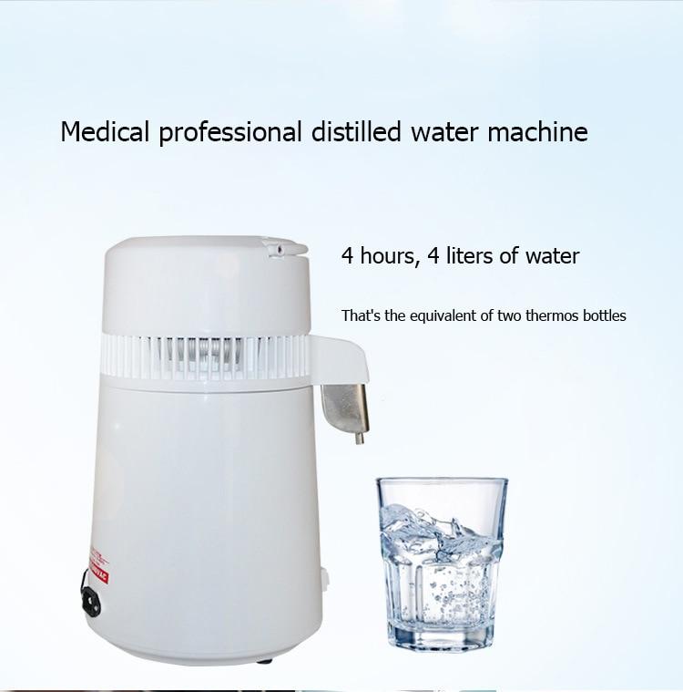 4L Home Pure Water Distiller Filter Water Distilled Machine Dental Distillation Purifier Equipment Stainless Steel factory - 5