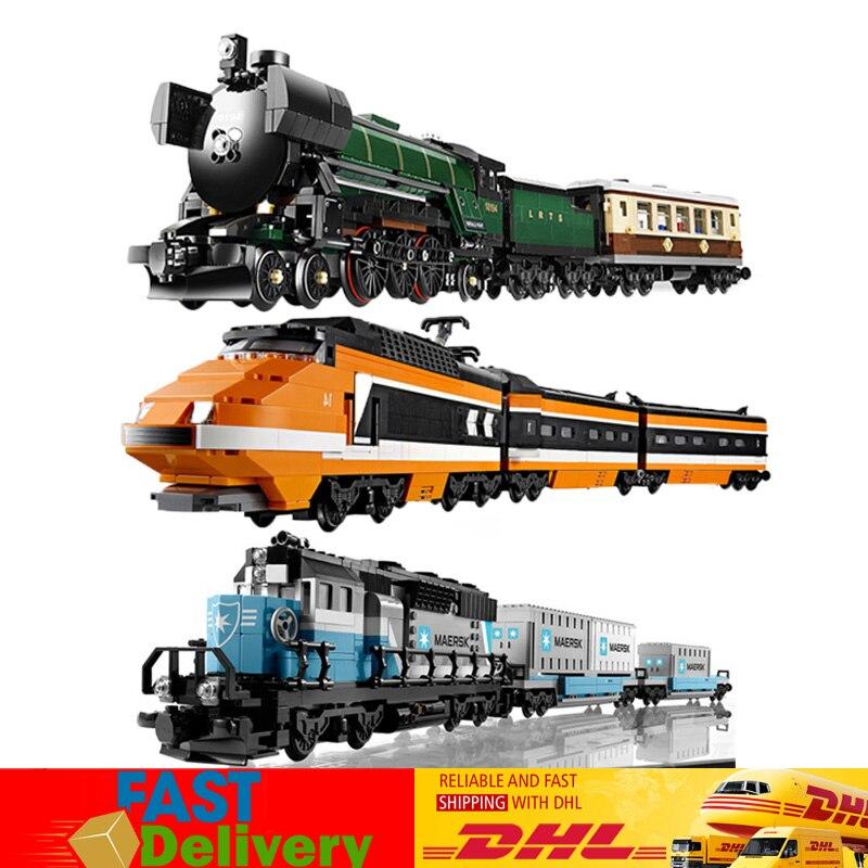 2018 Lepin 21005 21006 21007 Train Series Model Building Bricks Blocks Toys for Children Compatible LegoINGlys 10233 10219 10194