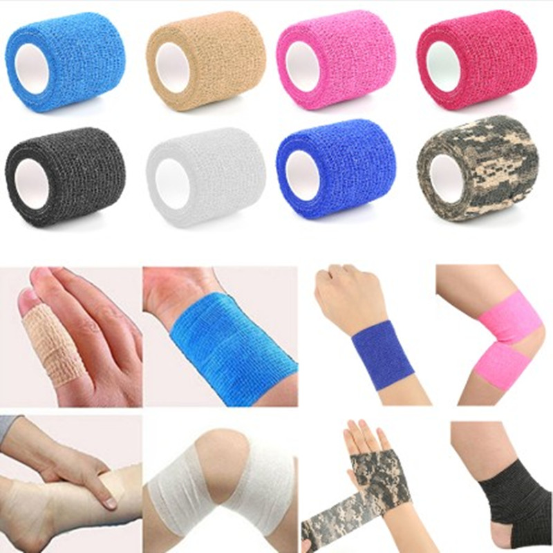 New Security Protection Waterproof Self-adhesive Cshesive Bandages Elastic Wrap First Aid Sports Body Gauze Vet Medical Tape 100% Original Security & Protection