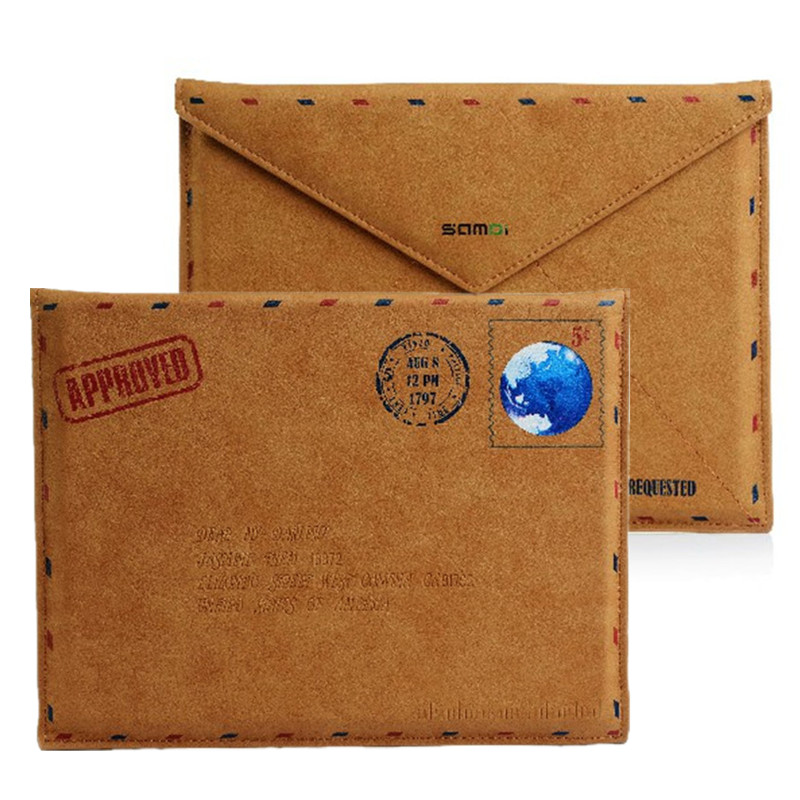 Vintage Postal Envelope PU Leather Sleeve Case for iPad 2 New iPad 3 Retro Envelope Pouch for iPad 4 iPad Air 1 2 Tablet Sleeve
