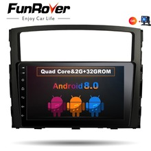 Funrover 2 din 9 «autoradio enregistreur à bande dvd Pour MITSUBISHI PAJERO V97 V93 Android 8.0 vidéo multimédia navigation gps usb wifi
