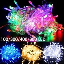 Лучший!  100 до 800 светодиодов строка гирлянды рождественская елка свет рождественские украшения ну