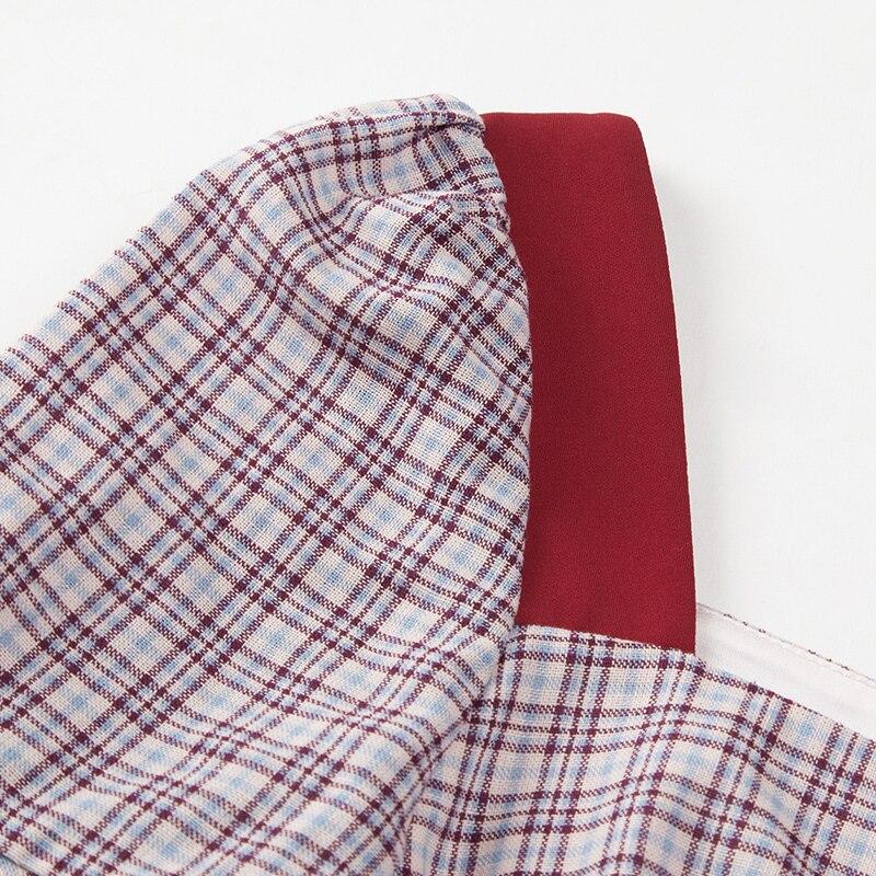 Longueur Patchwork Volants Robe Femmes 62769 De Yigelila Plaid À Dernières Manches Cou Genou Flare Imprimer 2019 Multi Mode Carré ZqwXOf