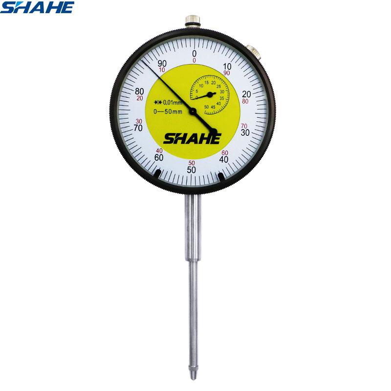 shahe 0- 50 mm analog dial indicator measuring tools 0-50 mm Metric Dial Indicator gauge Precision Micrometer Measuring Tools
