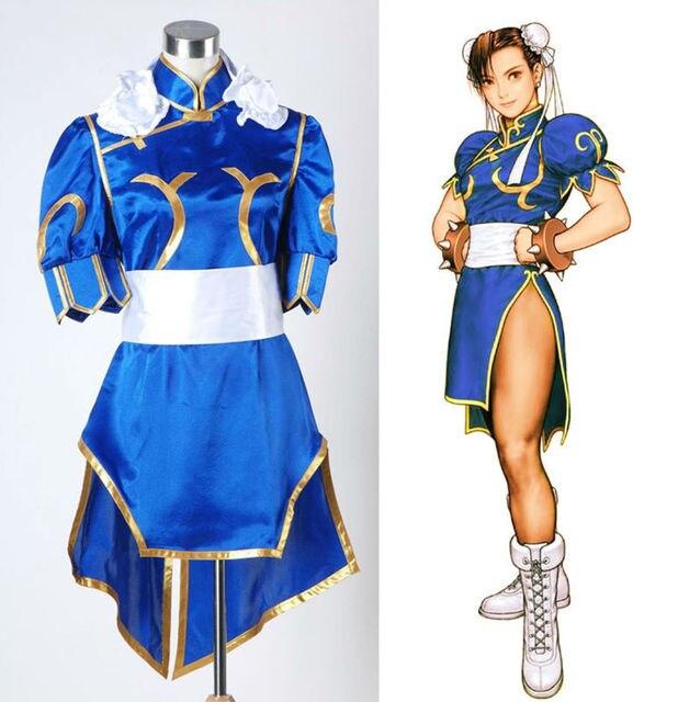 Street Fighter Sexy IV Chun - Li adultes vidéo jeu uniforme Cosplay Costume  robe livraison gratuite