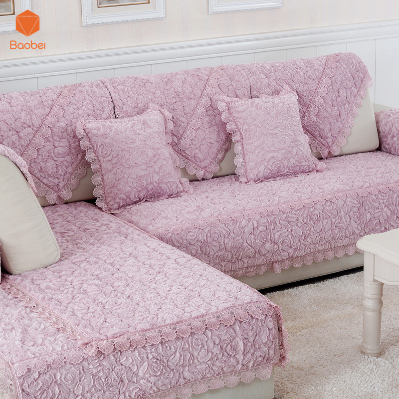 High Quality Thicking Fleece Sofa Cover For Winter Warm