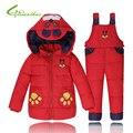 Winter Baby Down Coat Kids Parka Children Cute Dog Pattern Warm Jackets Snowsuit Girls Boys Outerwear Coat+Pant Clothing Sets