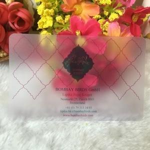 Image 1 - Tarjeta de visita personalizada, diseño personalizado, transparente, buena calidad, tarjeta de visita con nombre