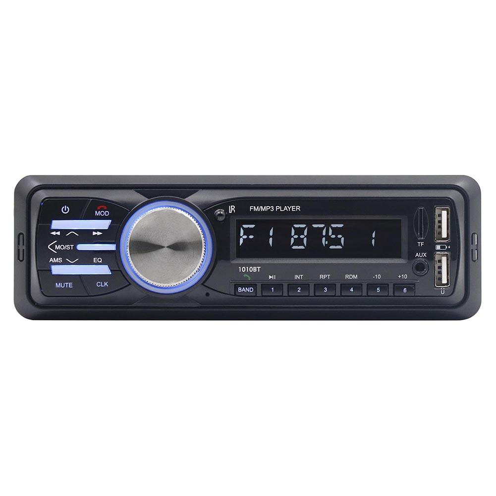 DC12V Universal Car Mp3 Player FM Receiver Play 2 USB Disk Player AUX Input Wireless Handsfree Music Audio With USB Interface