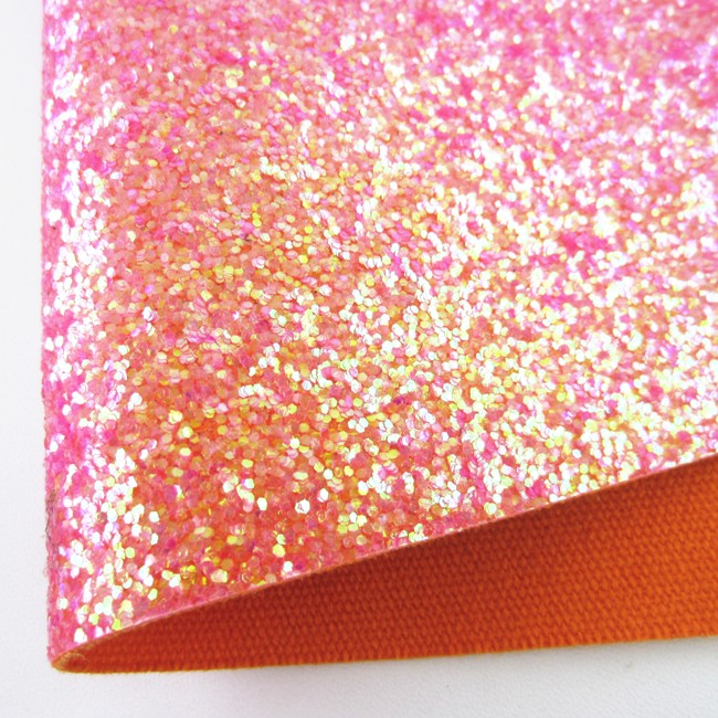 Red Rose Chunky Glitter Fabric