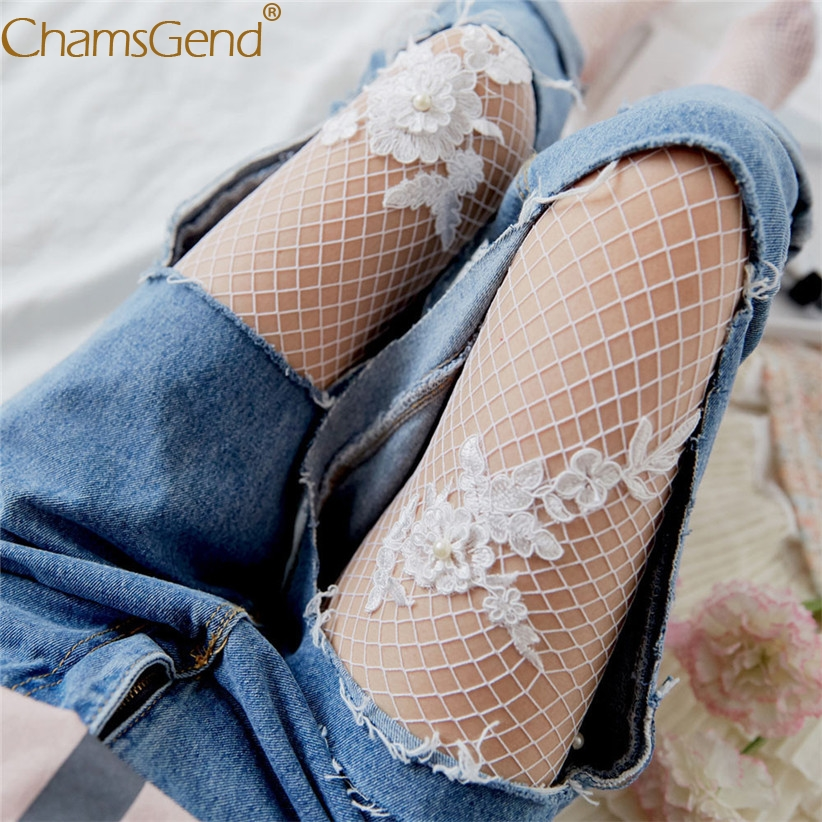 Chamsgend Hollow out Flower sexy pantyhose female Mesh women tights stocking slim fishnet stockings club party hosiery 71219