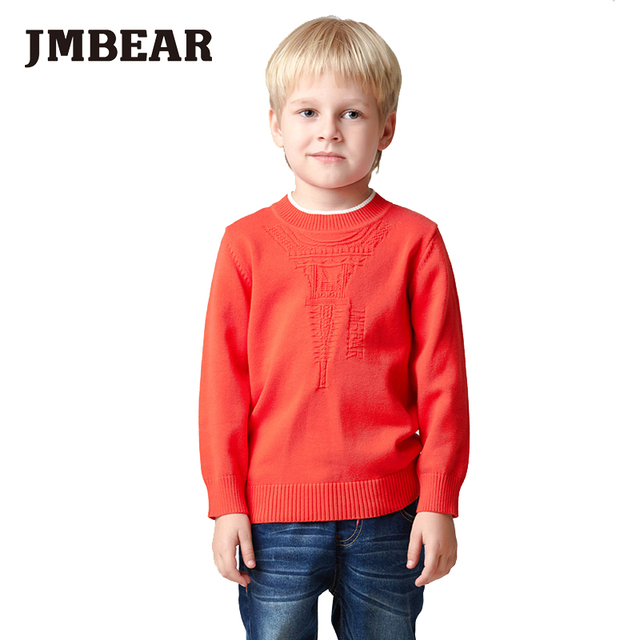 Jmbear meninos camisola crianças pullover camisolas roupa das crianças crianças outono inverno pullovers de malha outerwear quente