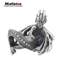 Омела 925 пробы Серебряный лед огонь талисман дракон бисера Fit Европейский браслет ювелирные изделия