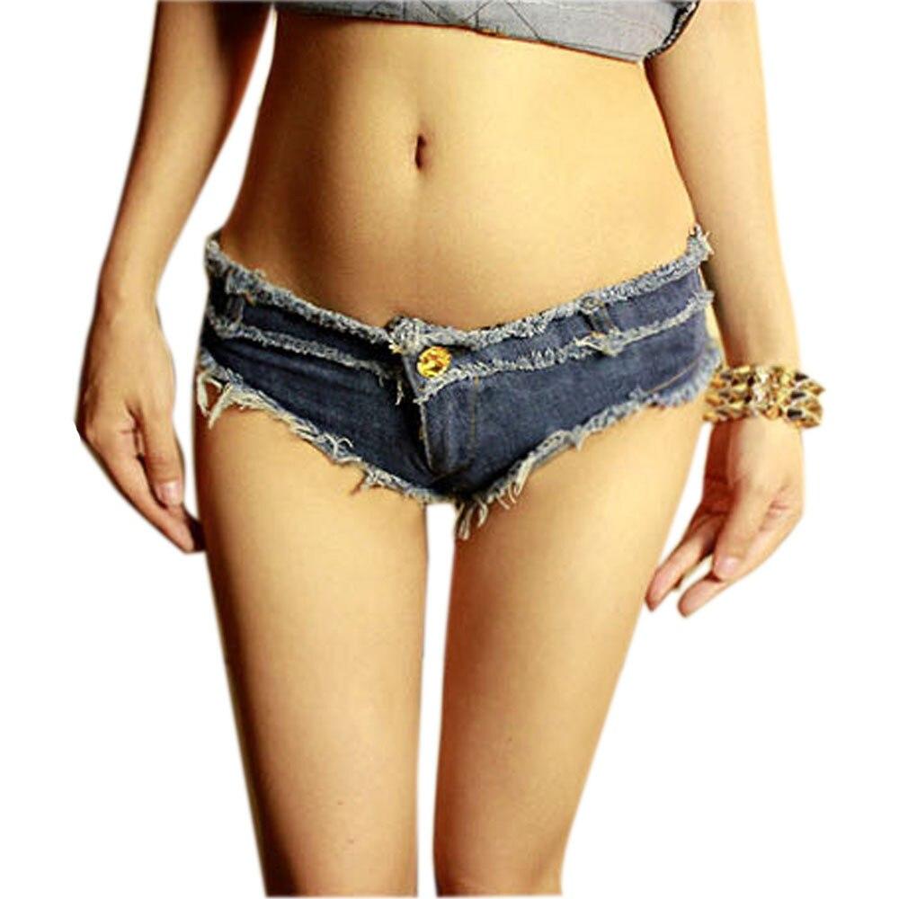 Fashion Hot Sexy Women Shorts Denim Camouflage Frayed Low Waist Jean Shorts Women Summer Women Clothing